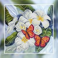 Картина бисером в рамке Идейка Бабочки (ВБ1041) 30 х 30 см