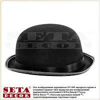 Чёрный котелок карнавальная шляпа
