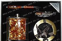Хороший Подарочный набор фляга bz-18-2 Фляга+ручка+пепельница+складной нож Отличный подарок мужчине для охоты