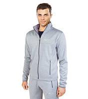 Мужские модные толстовки свет-серый 7204
