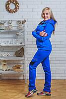 Спортивный костюм женский утепленный синий, фото 1