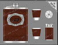 Подарочный набор Moongrass DJH0768 Фляга+2 стопки+лейка+зажигалка Набор подарок мужу Походный паек