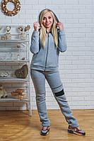 Спортивный костюм женский утепленный светло-серый, фото 1