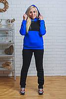 Теплый спортивный костюм женский черный, фото 1