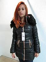 Куртка зимняя женская 8812-1 черная код 628а