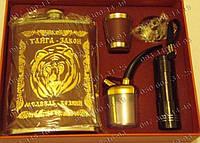 Подарочный набор Законы Тайги GT-TZ602 Медведь хозяин Фляга+лейка+стопка+фонарик+курительная трубка Набор
