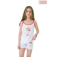Комплект Китти на девочку майка+шортики Турция хлопок