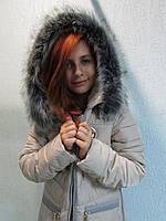Куртка зимняя женская 1518 светло-молочная код 633а