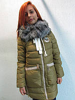 Куртка зимняя женская 1518 горчичный код 634а