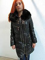 Куртка зимняя женская 8069 черная код 635а