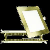 """Светодиодный светильник 12W """"квадрат-хром"""" 6000К"""