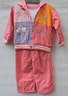 Легкий  костюм  трійка  для дівчинки віком на 1-3 роки