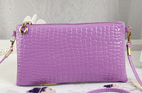 Сумка женская кожзам светло-фиолетового цвета, клатч, сумочка-клатч с плечевым ремнем 11*21см