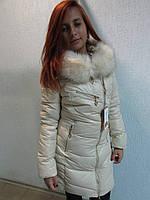 Куртка зимняя женская 8069 бежевая код 637а
