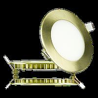 """Светодиодный светильник 6W """"круг-хром"""" 4000К"""