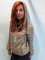 Куртка осенняя женская 585 бежевая код 642а