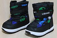 Сапожки дутики на мальчика, детская зимняя обувь для малышей р.21,22