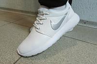Женские кроссовки Nike белые 1679-120 кожа 805А