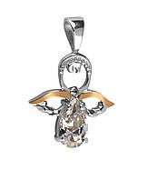 Серебряная подвеска кулон  Ангел Купидон c позолотой 369п