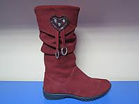 Зимние кожаные сапоги/ботинки для девочкек Аспект 30р-38р