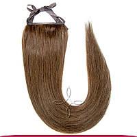 Шиньон-хвост на ленте 55 см 85 грамм №06 Русый