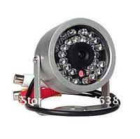 Цветная CCTV камера видеонаблюдения внешняя с ИК подсветкой и датчиком