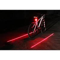 Велофонарь + Лазерный габарит задний (велофара мигалка)