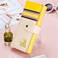 Красивый женский кошелёк с принтом. Котик. 7 цветов.