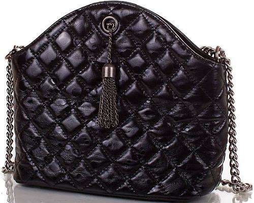Элегантная женская кожаная сумка ETERNO (ЭТЕРНО), черная, ET4812-2
