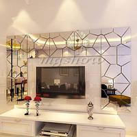 Зеркала пластиковые декор Наклейка на стену 3D декор в комнату зеркало