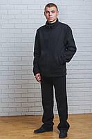 Теплый спортивный костюм мужской черный, фото 1