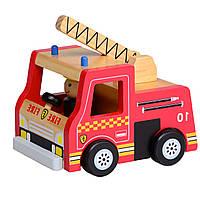 Машинка пожарная деревянная T65-010