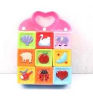 Кубики - пищалки резиновые