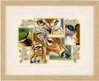"""Набор для вышивки крестом """"Exotic Wildlife Collage"""" (Экзотический Коллаж живой Природы)"""