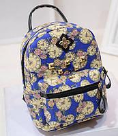 Сказочные рюкзаки с цветами и часами! Практичный рюкзак. Женский рюкзак. Современный рюкзак. Код: КЕ200