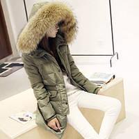 Женский зимний пуховик с капюшоном, модель 0315