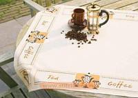 """Набор для вышивки крестом """"Скатерть - Чай и Кофе"""""""