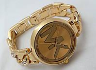 Часы женские Michael Kors - MK - золотистые Майкл Корс, плетение