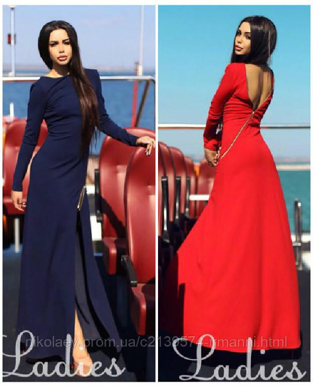 Платье с разрезом до бедра 11