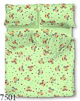 7501 зеленый детское в роватку белье ранфорс Viluta