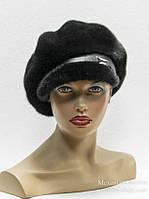 Женская норковая кепка.(коричневая)