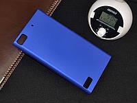 Чехол накладка бампер для BlackBerry Z3 синий