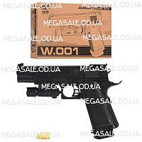 Детский игрушечный пистолет с пульками 22см: лазер