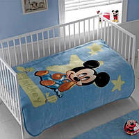 Детский плед 110х140 TAC  DISNEY  MICKEY BABY 2009 СИНИЙ