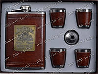 Подарочный набор Jim Beam 6В1 AL707 Фляга+лейка+4 стопки Подарочные наборы с флягой Интересные подарки
