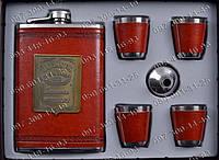 Интересные подарки Мужской Подарочный набор Jack Daniels 6В1 AL706 Фляга+лейка+4 стопки Подарочные наборы