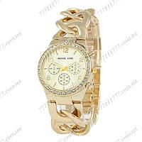 Часы женские наручные Michael Kors Runway Diamond All Gold