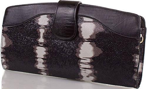 Отменный женский кожаный клатч ETERNO (ЭТЕРНО),черный, ET15107-1