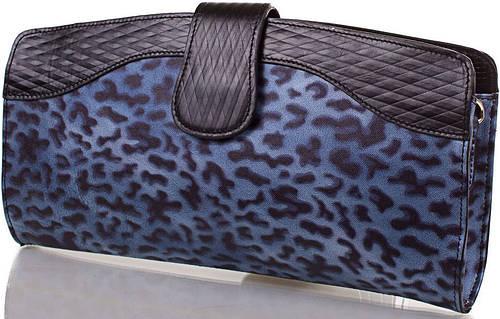 Восхитительный женский кожаный клатч ETERNO (ЭТЕРНО),синий, ET15107-3