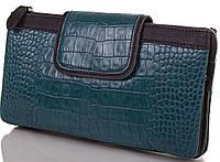 Красивый женский кожаный клатч ETERNO (ЭТЕРНО), бирюзовый, ET15243-2